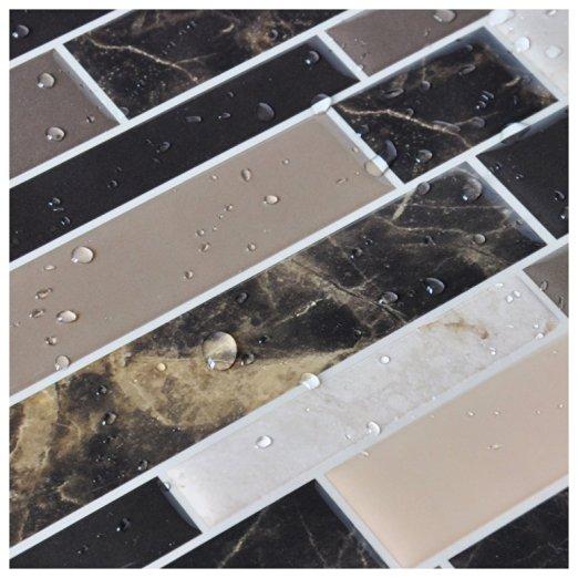 Peel and Stick Vinyl Sticker Kitchen Backsplash Tiles, 12