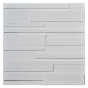 A10032 - Decorative PVC White Brick Design 3D Wall Panels, 12 Tiles 32 SF