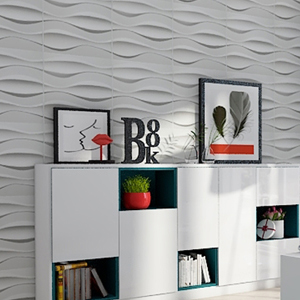 A10035 - 3D Wall Tiles PVC Material Panels for Interior Wall Pack of 12