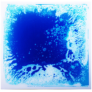 Colorful Liquid Floor Tile 19.7''x19.7'' Ground Tile for Bar Nightclub Decoration, 6-Pieces 16 Sq.Ft Blue Floor Tiles
