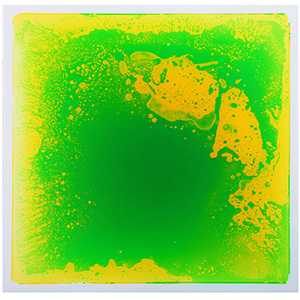 Green Liquid Floor Tile 19.7''x19.7'' Ground Tile for Bar Nightclub Decoration 6-Pieces 16 Sq.Ft Floor Tiles