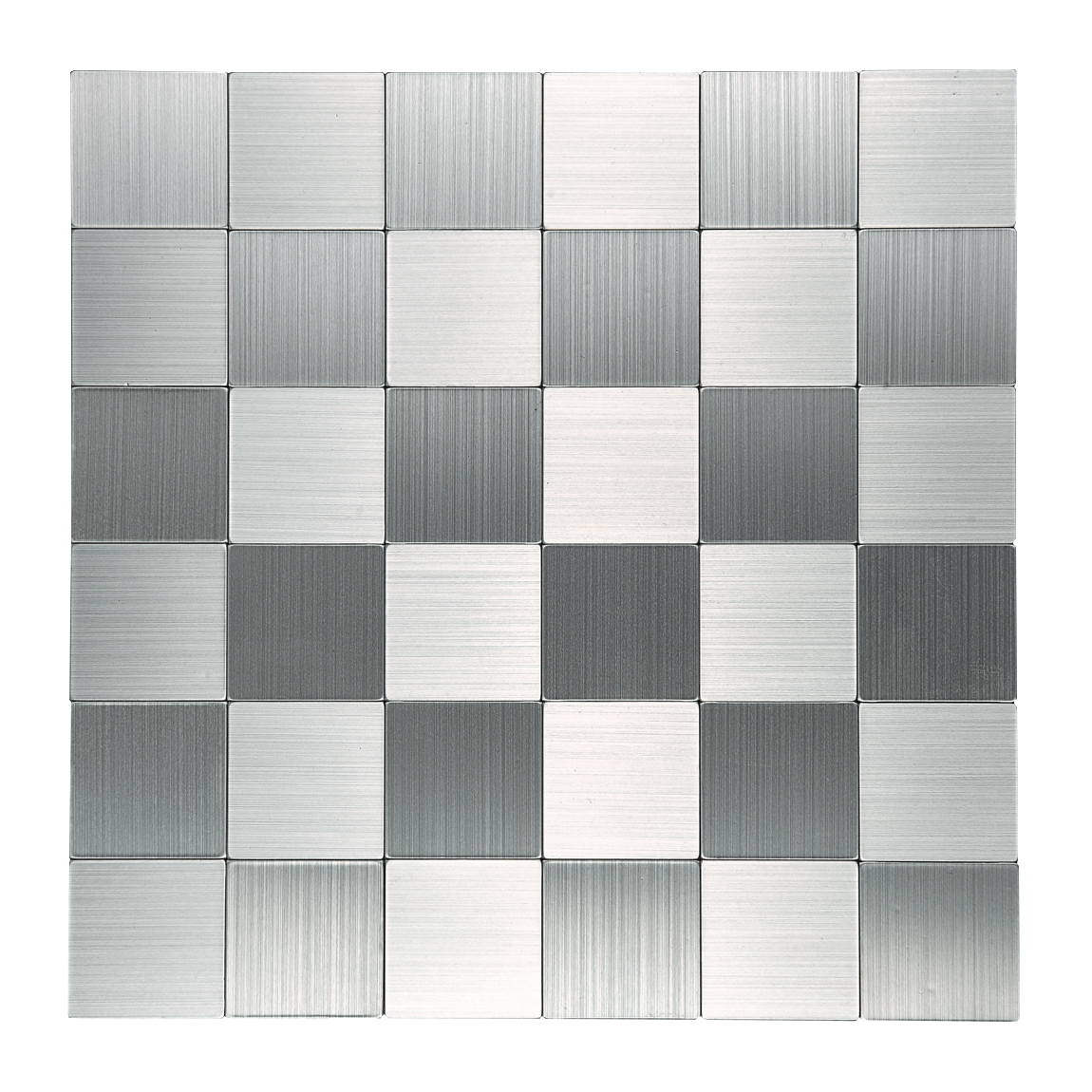 Art3d Peel and Stick Tile Metal Backsplash for Kitchen, Silver Set of 10