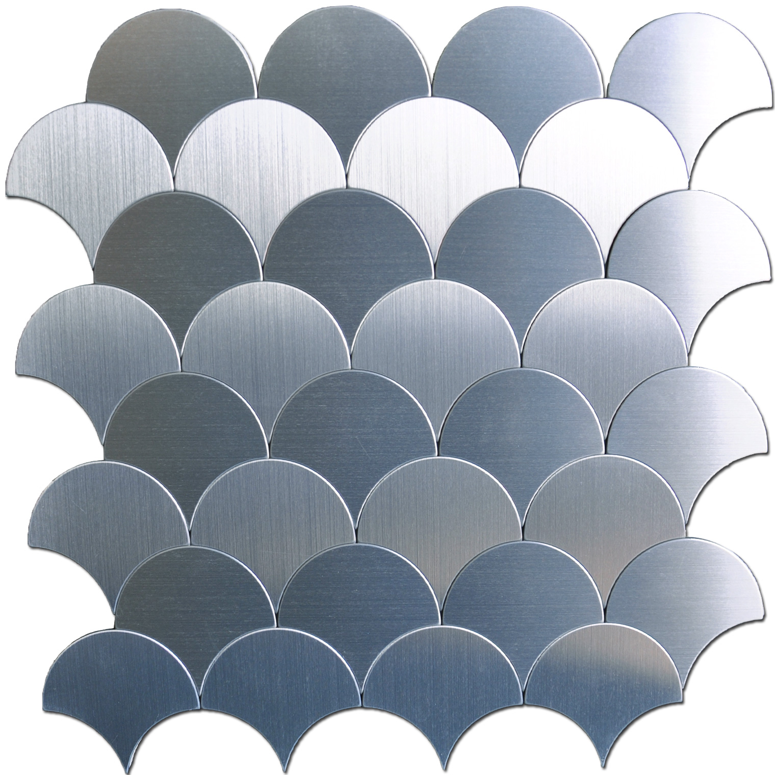 A16071 - Peel and Stick Tile Metal Backsplash, Silver Umbrella