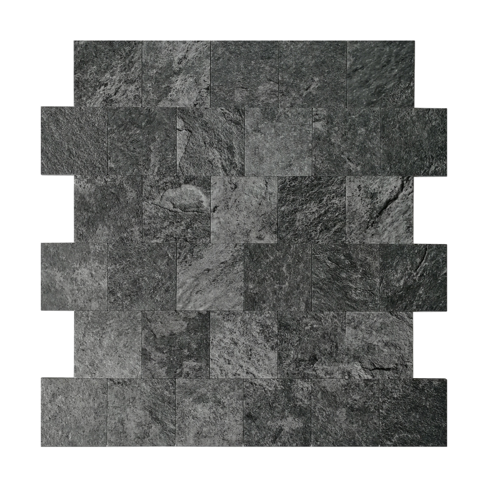 Art3d Peel and Stick Backsplash Tile for Kitchen, Faux Stone Backsplash Tiles, Black (5 Tiles)