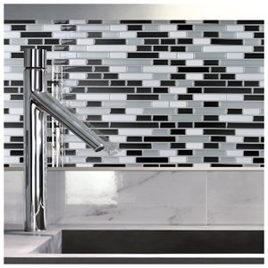 A17002 - Peel and Stick Backsplash Tile for Kitchen, 12