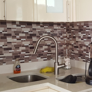 A17006 - Peel-n-Stick Tile Backsplash Bathroom Wall Tiles 6 Sheets 5.8 Sq.Ft