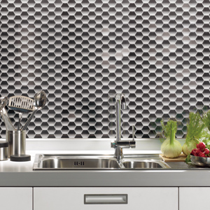 Vinyl Mosaic Wall Tile Instant Mosaic Peel and Stick