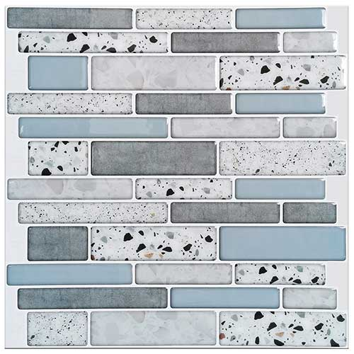 Art3d 10-Sheet Peel and Stick Backsplash Tile for Kitchen in Stone Design
