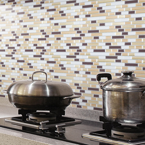 A17031 - Peel and Stick Wall Tile Kitchen and Bathroom Backsplashes 10 Pics