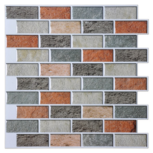A17033 - Adhesive Mosaic Tile Backsplash, Peal and Stick Kitchen Backsplash
