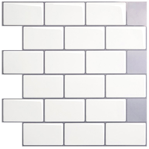 A17049 - Peel and Stick Backsplash Tile Sticker for Kitchen, Set of 10
