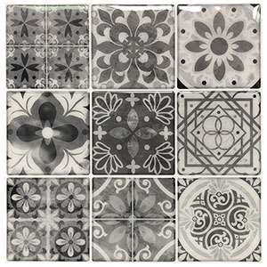 Art3d 10 Sheets Peel and Stick Backsplash Tile for Kitchen Gray Talavera Mexican Tile
