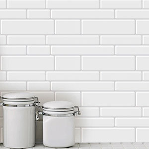 10-Sheet Peel and Stick Tile Backsplash for Kitchen Shelf-Adhesive Wall Sticker Tile