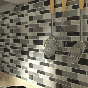 A17071 - 10 Sheets Peel and Stick Tile Backsplash for Kitchen Backsplash Gray Decorative Tile