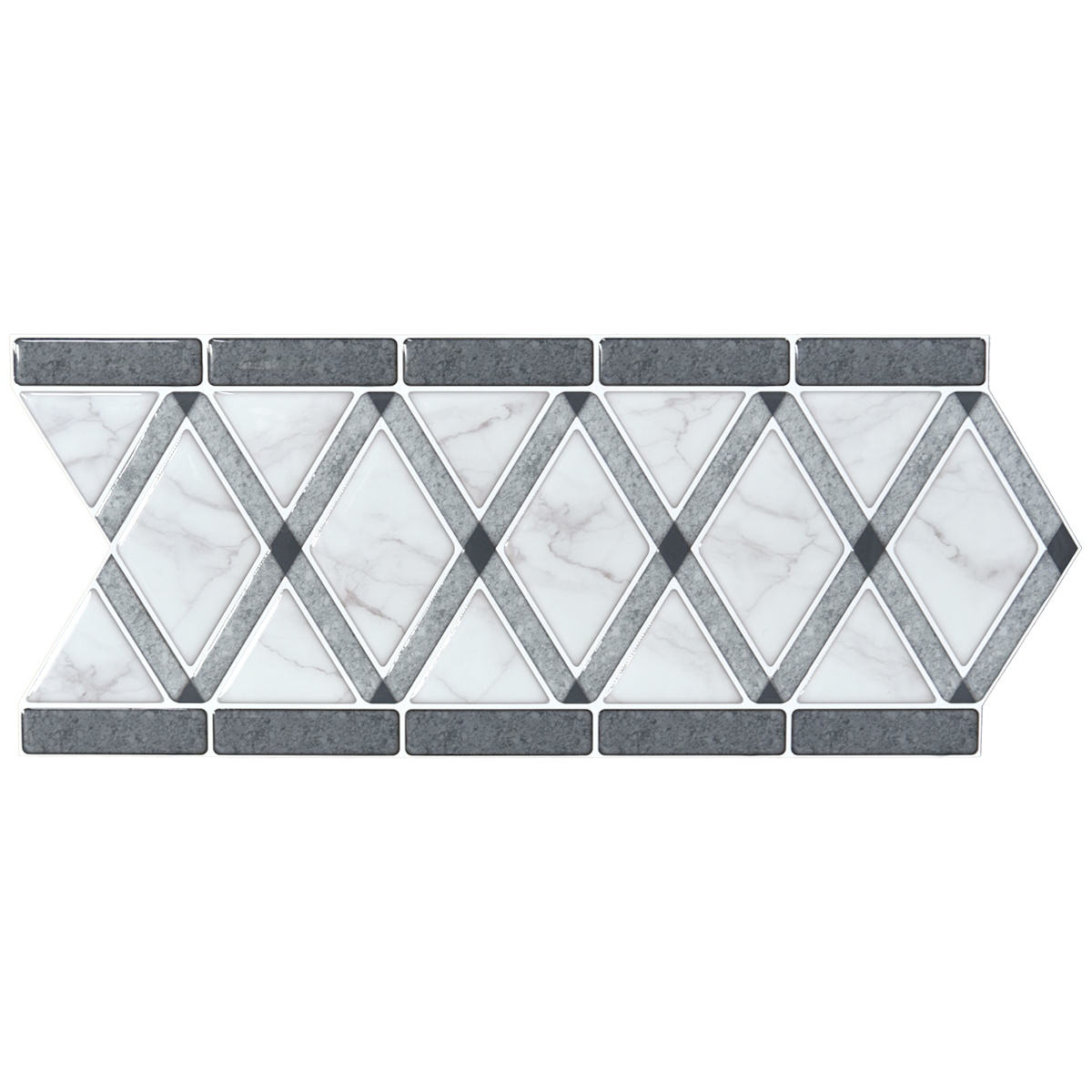 A17101 - Tile Borders Peel and Stick Backsplash, Removable Backsplash for Kitchen, Bathroom, Set of 10, 12.4
