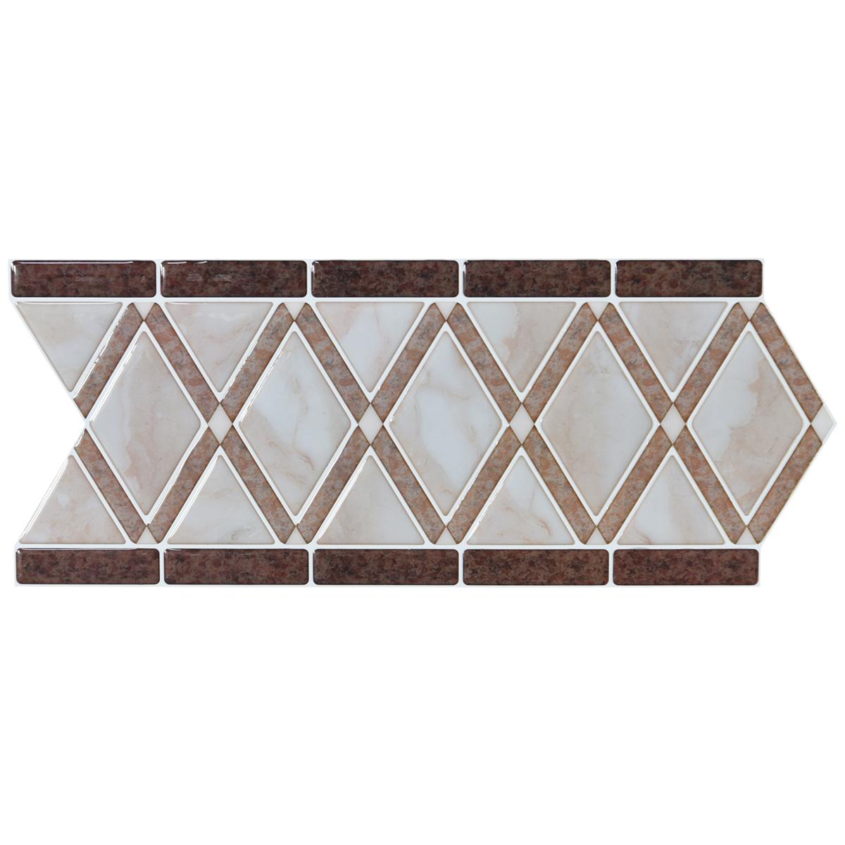 A17102 - Peel and Stick Backsplash Tile Borders, Removable Backsplash for Kitchen, Bathroom, Set of 10, 12.4
