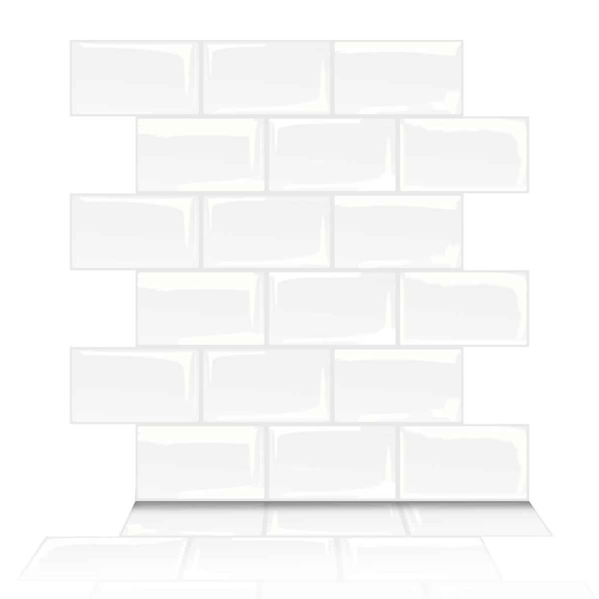 A17700-Art3d Subway Tiles Peel and Stick Backsplash, Stick on Tiles Kitchen Backsplash