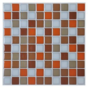 3D Wall Sticker Kitchen Backsplash Tile 12'' x 12'' Peel and Stick Wall Tiles Resin 6 Tiles