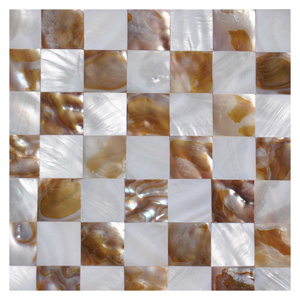 A18015 - Mother of Pearl Mosaic Wall Tiles Natural Chess Board, 12