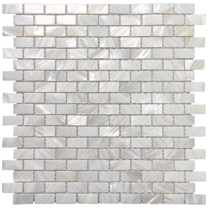 Oyster Mother of Pearl Rectangle Shell Mosaic for Kitchen Backsplashes, Bathroom Walls, Spa Tile