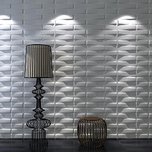 A21082 - Plant Fiber Decorative 3D Wall Panels for Interior, 6 Tiles 32 SF