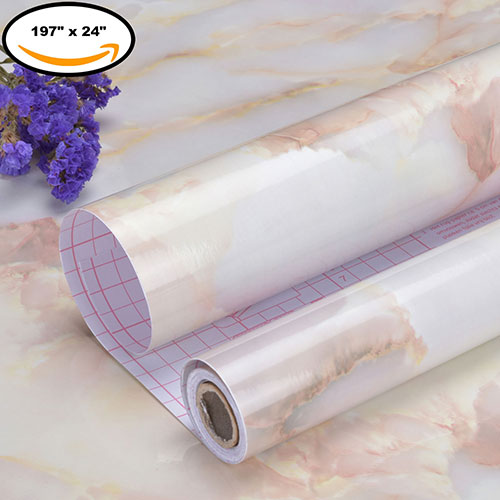 Art3d Peel and Stick Wallpaper Marble Wall Paper Self-Adhesive Contact Paper