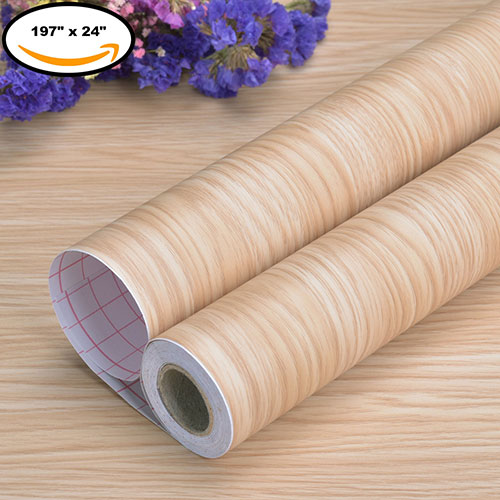Art3d Peel and Stick Wallpaper Wood Wall Paper Self-Adhesive Contact Paper 197
