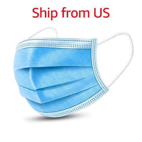 [50 PCS] Disposable Protective Mask - 3 ply Earloop, Non-medical