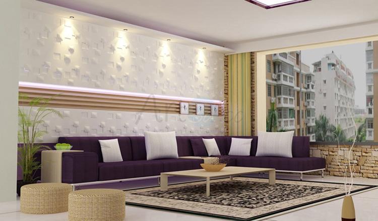3D Illuminative Wall Tile Liveing room