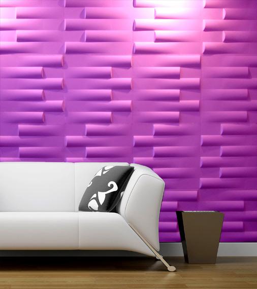 3D PVC Wall Décor for Living Design Idea
