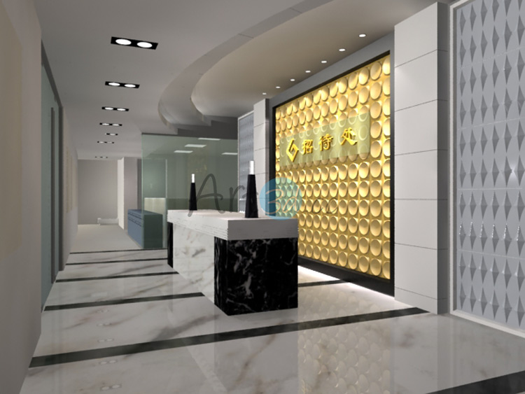 3D Surface PVC Plate For Reception Wall