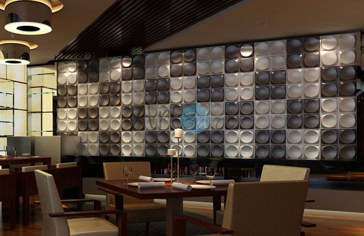 3D Surface PVC Plate For Restaurant Wall Decor