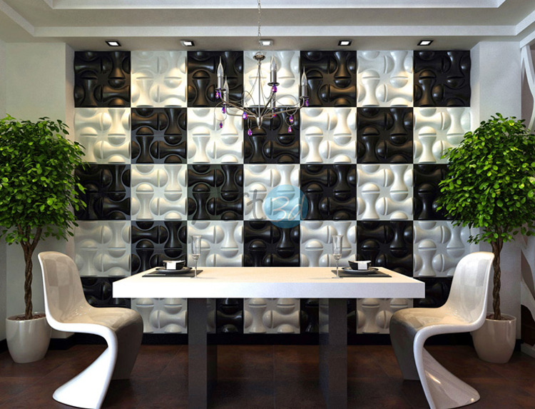 3D Surface PVC Tile For Dining Room 2