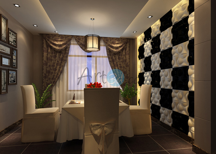 3D Surface PVC Tile For Dining Room
