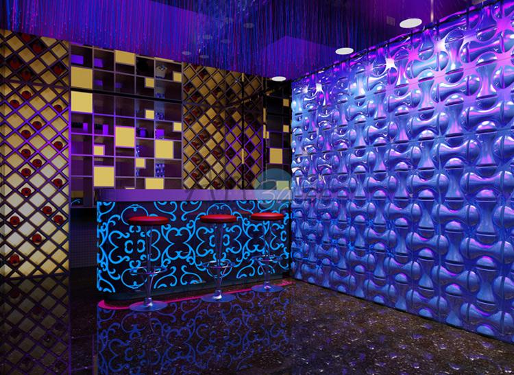 3D Surface PVC Tile For Store Bar