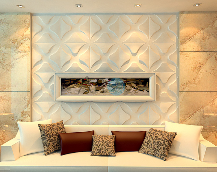 3D Textured Wall Cladding For Living Room 2