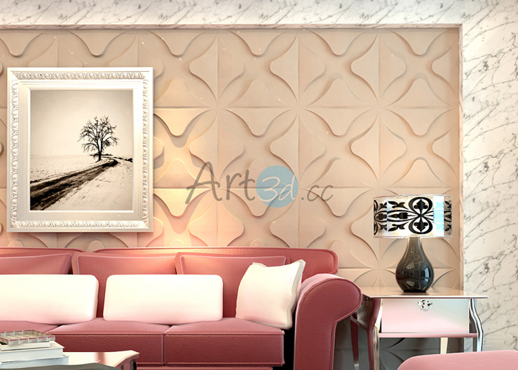 3D Textured Wall Cladding For Living Room 3