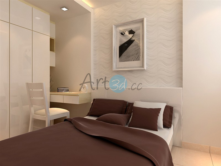 3D Textured Wall Panel for Bedroom