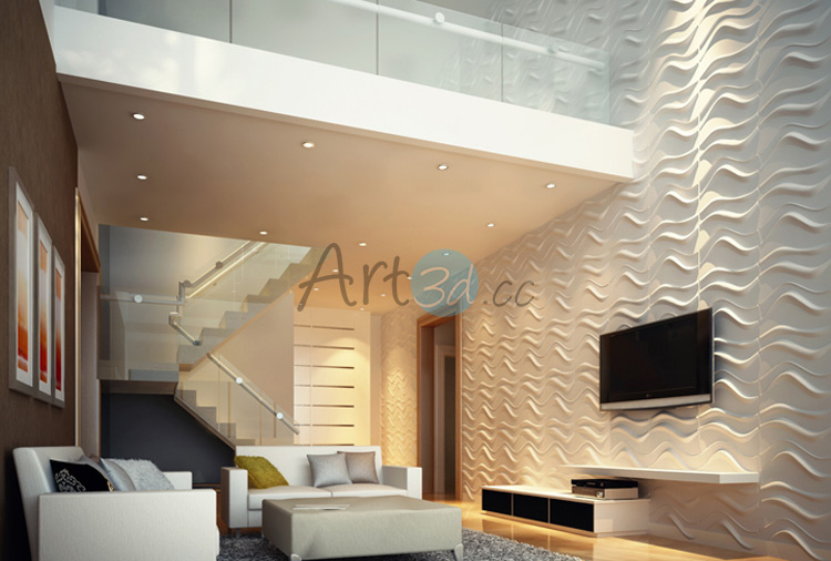 ... 3D Textured Wall Panel For Living Room ...
