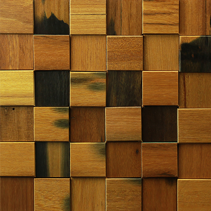 A15002 - 3D Wood Wall Panel 1 Box 10.66 Sq.Ft - 3D Wood Wall Panel Decorative Wood Panels 1 Box 10.66 Sq.Ft