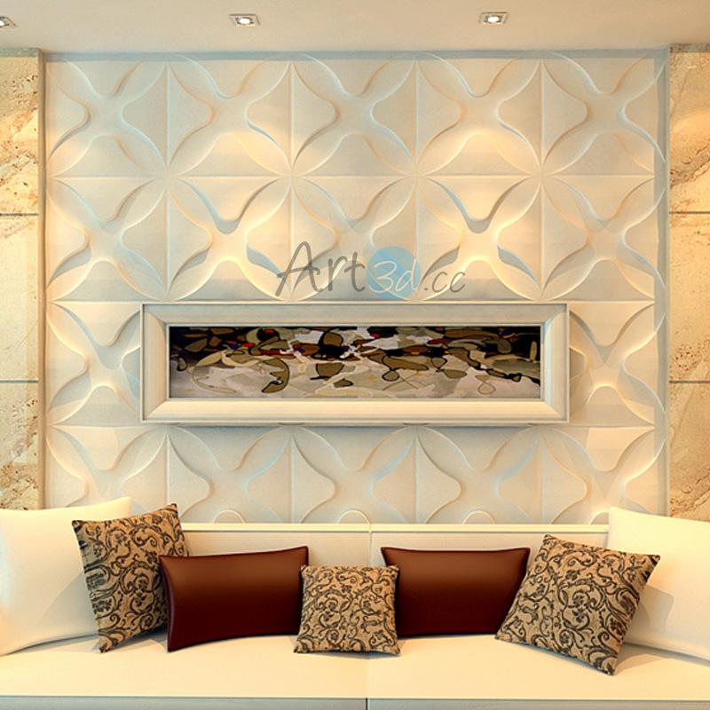 3D Textured Wall Cladding Decorative Wall Panel 12 Pics 3 m² 1 box
