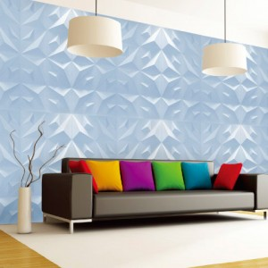A10029 - Decorative 3D Panels Textured Wall Board, White, 12 Tiles 32 SF