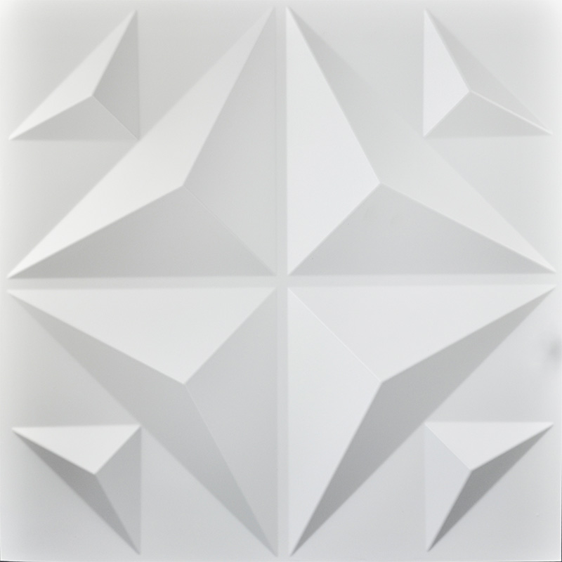 Decorative 3d Panels Textured Wall Board White 12 Tiles