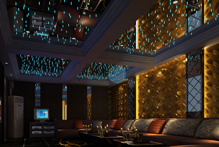 KTV Night Clud Wall Decoratin with 3D Textured Wall Art