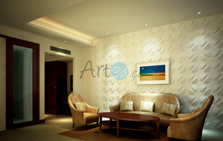 Resident decoration with 3D Textured Wall Art