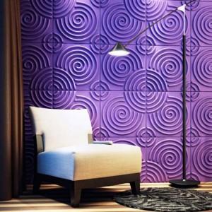 A10011 - Decorative 3D Wall Paper 12 Panels 32.29 sq.ft