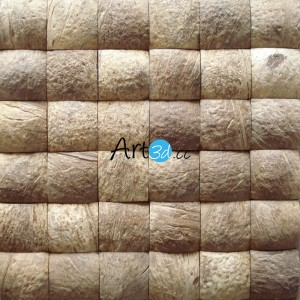 A14001 - Decorative Coconut Wall Tile 11 Panels