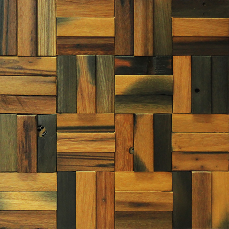 Decorative Reclaimed Wood Art Interior Wooden Panel 3m2 11 Tiles