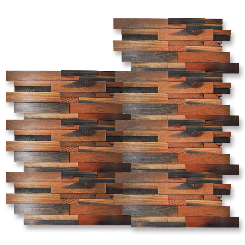 decorative wood wall art 11 panels 1 box 2 m