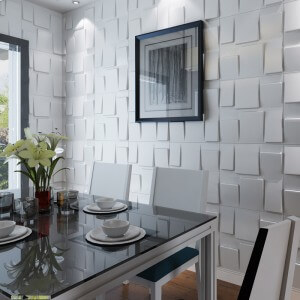 3D Wall Decor Architectural 3D Wall Panels Textured Art Design 12 Tiles 32 Sf